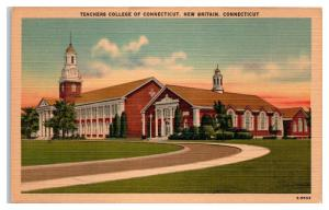 Mid-1900s Teachers College of Connecticut, New Britain, CT Postcard