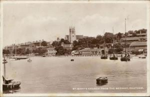 st mary's church medway chatham post boats