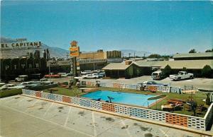 Hawthorne Nevada~El Capitan Motor Lodge And Casino~Pool~1960s Postcard
