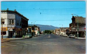 ENTERPRISE, Oregon  OR    STREET SCENE  ca 1960s   Wallowa County   Postcard