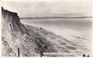 Paddys Gap at Milford On Sea Real Photo Postcard