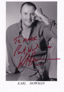 Karl Howman Brush Strokes Large Hand Signed Photo