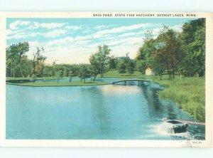 W-border STATE FISH HATCHERY Detroit Lakes Minnesota MN AE4675
