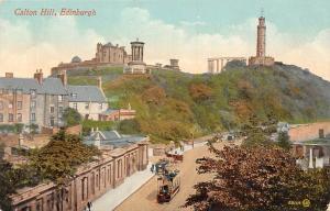 Scotland Edinburgh Calton Hill, Tram, Carriages
