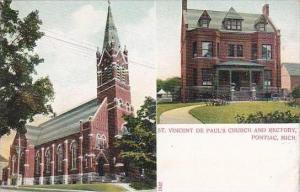 Michigan Pontiac Saint Vincent De Pauls Church And Rectory