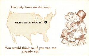 Pennsylvania Slippery Rock Dutch Kids Der Only Town On Der Map 1914