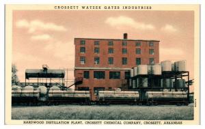 Crossett Watzek Gates Industries, Crossett, AR Train Cars Postcard *5I5