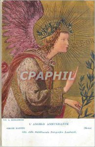 Postcard Old Annunziante Angelo (Siena) Simone Martini