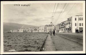 turkey, SMYRNA IZMIR, Kordon, Quay (1930s) RPPC