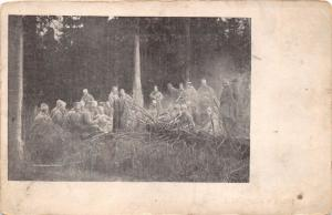 ODDYCH V LESE SLOVAKIA MILITARY SOLDIERS IN FOREST POSTCARD 1918