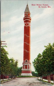 St. Louis MO New Water Tower Unused Postcard G28