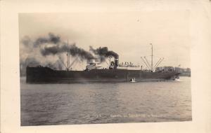 SS Collamer~Arrive in Bordeaux France~Cargo Ship~Sunk by Germans 1942~c1918 RPPC