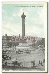 CARTE Postale Old Paris Basilica and the July Column