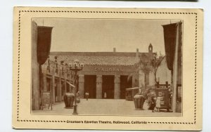 Vintage Postcard HOLLYWOOD CA GRAUMAN'S EGYPTIAN THEATRE photo image