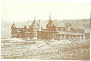 First Provincial Home Postcard Built in 1894 and Destroyed in 1972 BC