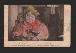 078521 Portrait of SON w/ Toys by BAKST vintage ART NOUVEAU
