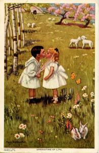 Springtime of Life - Artist: Mary Sigsbee Ker.    (Children, Romance)