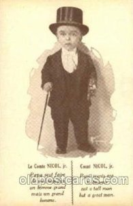 Smallest Person, Midget, Dwarf, Circus Unused crease left bottom corner rest ...