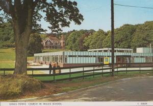 Dinas Powis Church In Wales 1970s Primary School Postcard