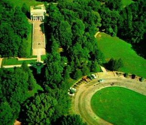 Aerial View Lincoln Memorial Park Hodgenville Kentucky UNP Vtg Chrome Postcard