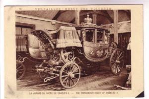 Coronation Coach Charles X Versailles Paris France, Braun & Cie 2601 A