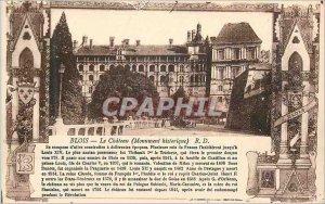 Old Postcard Blois Castle (Historical Monument)