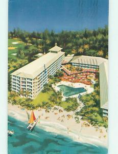 Pre-1980 HOJO - HOWARD JOHNSON BEACH LODGE HOTEL Nassau BAHAMAS J7430