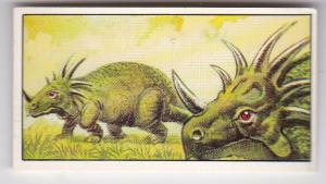 Trade Cards Geo. Bassett / Barratt AGE OF THE DINOSAURS No 18 Styracosaurus