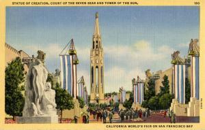 CA - San Francisco, 1939-40. Golden Gate International Exposition. Statue of ...