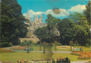 Postcard England Peterborough Cathedral and Bishop's Gardens