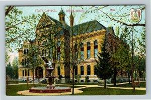 Boise ID, State Capitol, Vintage Idaho Postcard