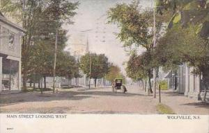 Canada Nova Scotia Wolfville Main Street Looking West 1907