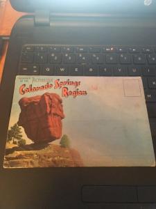 Vintage Picture Postcard Book:Colorado Springs Region 18 Views