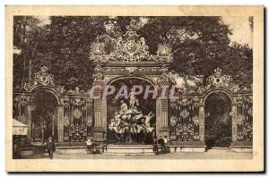 Old Postcard Nancy Place Stanislas iron grills Forge Jean Lamour Fountain of ...