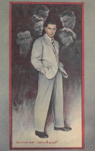 Norman ROCKWELL ; Man in suit , The Razor's Edge Play , Iowa Falls , 1947