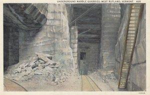 RUTLAND , Vermont , 1910s ; Underground quarries