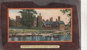 BF32174 court palace from the river hampton  uk  front/back image