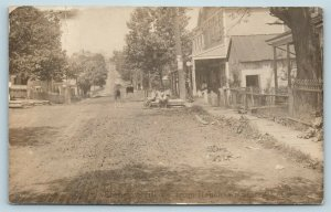 Postcard PA Scenery Hill c1908 Street View From Renshaws Store West RPPC AC6