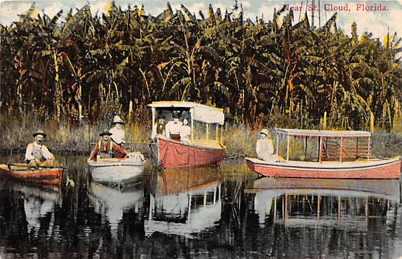 Very Rare Postcard Scene on Live Oak Lake Shaker Village, Narcoossee Florida,...