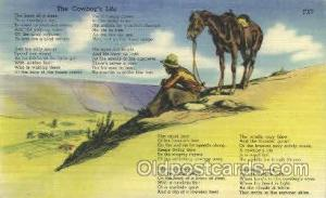 The Cowboy's Life Western Cowboy, Cowgirl Postcard Postcards  The Cowboy's Life