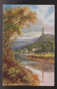 River Forth & Wallace Monument Sterling, Scotland - Used In USA 1907