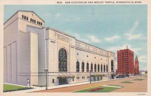 Minnesota Minneapolis New Auditorium and Wesley Temple Curteich