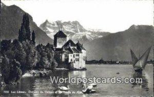 Lac Leman Chateau de Chillon et Dents du Midi Swizerland Unused