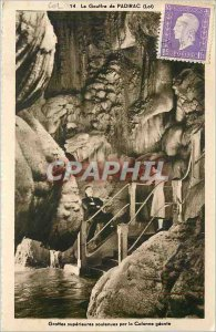 Old Postcard The Padirac Lot Caves superior soulenues by giant Column