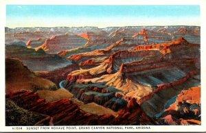 Arizona Grand Canyon Sunset From Mahove Point