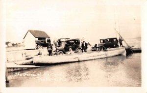 Maitland Nova Scotia Canada Car Ferry Boat Real Photo Vintage Postcard AA14277
