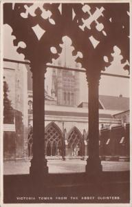 Tucks London Westminster Abbey Victoria Tower From The Abbey Cloisters Real P...