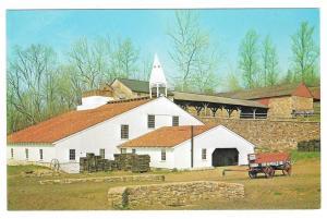 PA Hopewell Village Cast House & Furnace W Miller Postcard