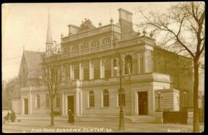 bristol, CLIFTON, Fine Arts Academy, Victoria Church (1920s) RPPC