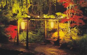 The Butchart Gardens, Night Lights in the Japanese Gardens,  Victoria,  B.C.,...